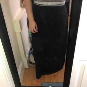 (2 for $25) sheer maxi skirt (high waisted)
